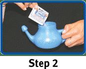 Afbeelding Gebruik neti-pot - stap 2