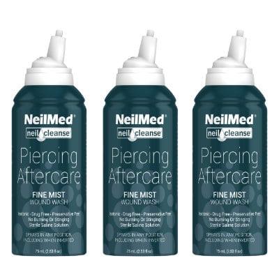 Afbeelding NeilMed Piercing Aftercare Fine Mist 75ml 3x