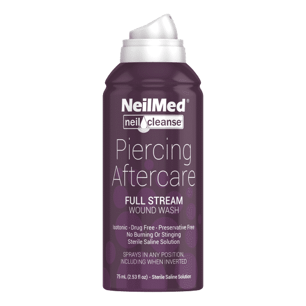 Afbeelding NeilMed Piercing Aftercare Full Stream-75ml-Front